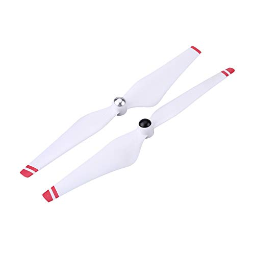 Wosune Elica Drone, Pale dell'elica quadricottero, Diametro 9,4 Pollici per DJI Phantom 2 Vision DJI Phantom 2(White+Red)