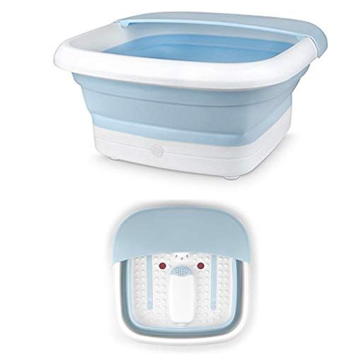 Bathroom Foot Spa Foldable Footbath Tub With Foot Massagers Foldable Foot Tub Infrared Remote Control Massage Electric Footbath Home Pedicure Machine Foot Bath Barrel The best helper in the bathroom