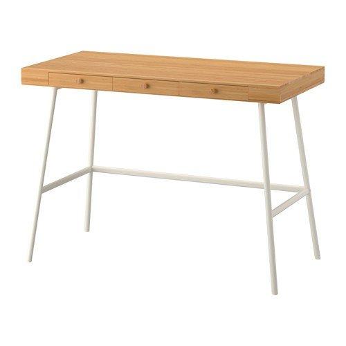 IKEA LILLASEN Schreibtisch aus Bambus; (102x49cm)