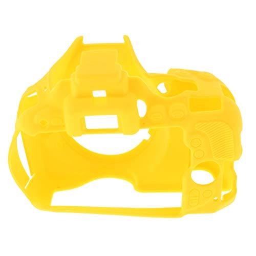 Prettyia Capa protetora de borracha amarela para câmera, carcaça de silicone para câmera Nikon D5500 D5600 DSLR