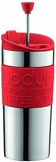 BODUM ボダム TRAVEL PRESS SET トラベルプレスセット フレンチプレス コーヒーメーカー (タンブラー用リッド付き) ステンレス製 350ml レッド 【正規品】 K11067-294