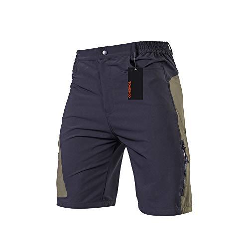 TOMSHOO Pantaloncini MTB Uomo, Pantaloncini Ciclismo Biciclette, Bici MTB Pantaloni Traspirante Shorts...