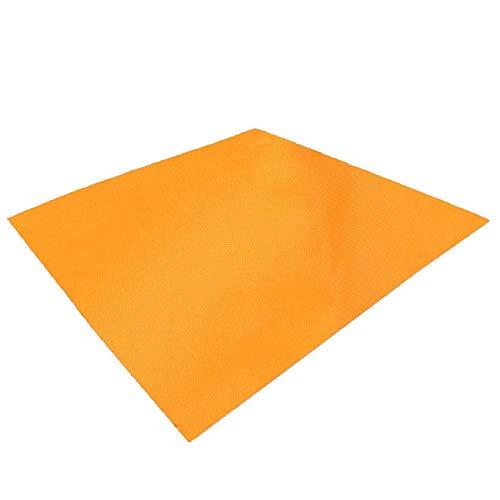 TRIWONDER Tapis de Sol Camping Tarp Ultra Léger Bâche de Tente Imperméable Parasol Auvent Abri Couverture Anti-Pluie pour Pique-Nique Voyage Randonnée (Orange, S - 150 x 250 cm)