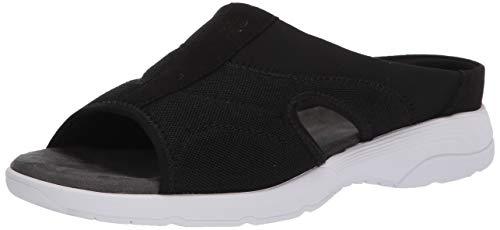 Easy Spirit womens Tine2 Slide Sandal, Black, 7.5 US