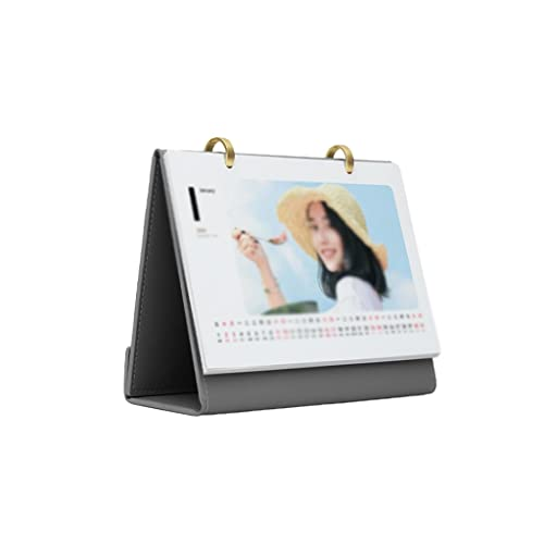 LUYTW 2022 Leather Desk Calendar 12 Months Flip Calendar for Home Office Monthly Calendar Planner,Scheduler Memo Pad,Appointment Book (Color : A)