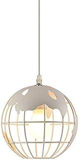 Earth Wrought Iron Chandelier World Map Pendant Light Globe Lampshade Industrial Retro Ceiling Pendant Lamp E27 Base Suita...