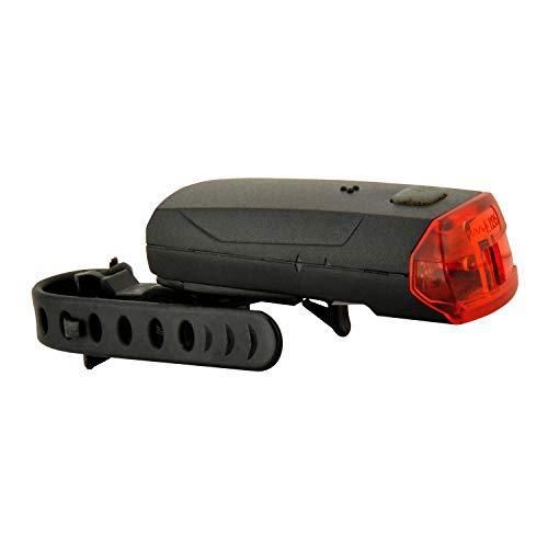 FISCHER Batterie LED Rückleuchte mit Universalhalter, Fahrradrücklicht, Fahrradbeleuchtung