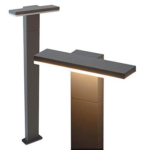 MODERNE LED Standleuchte Pollerleuchte Wegeleuchte 10W - 78cm hoch - warmweiß - schwarz - Wandlampe Wandleuchte Außenlampe Lampe Gartenleuchte 17504