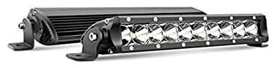 Nilight 43235-181475 2Pcs 11Inch 50W Super Slim Flood LED Light Bar Driving Fog Light Single Row Off Road LED Lights- 2 Style Mounting Brackets, 2 Years Warranty, 1 Pack