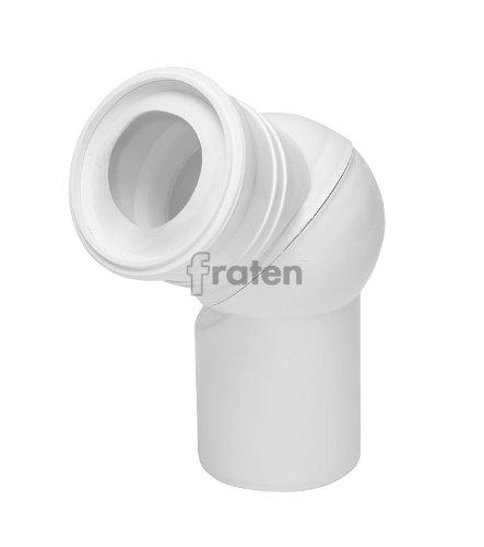 WC-Gelenk-Ablaufbogen Atlasbogen 0-90 Grad verstellbar WC Bogen Anschlussbogen