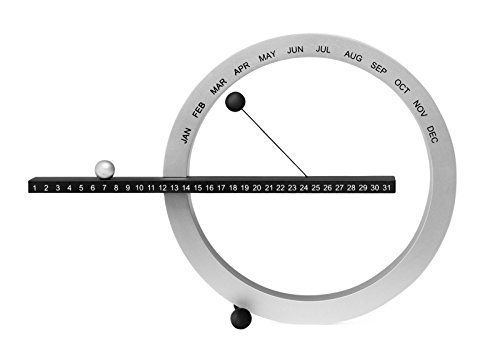 MoMA Ewiger Schreibtischkalender, klein, schwarz-silber