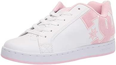 DC womens Court Graffik Skate Shoe, White/Pink/Multi, 10.5 US