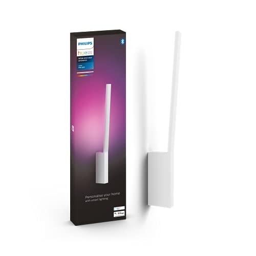 Philips Hue – Lámpara inteligente, Hue Liane, Aplique LED Inteligente, Luz Blanca y de Colores, Compatible con Alexa y Google Home, Color Blanco