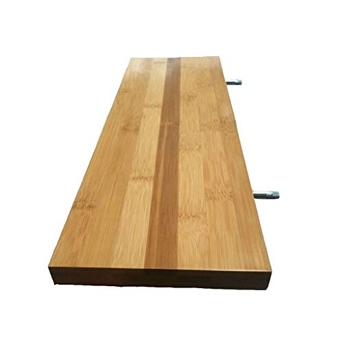 WWZWJ Zwevende plank plank bevestigd aan de muur, de lagen (houtkleur) van bamboe muur, geschikt voor plank bevestigd aan de ruimtebesparende, woonkamer/slaapkamer/keuken/wc-wand
