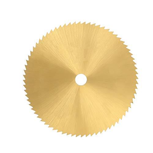 Hoja de sierra circular de acero de alta velocidad de 60 mm y 72 dientes Disco de corte pequeño para metal, madera, plástico para cortar metal, madera, plástico y caucho(6.35mm)
