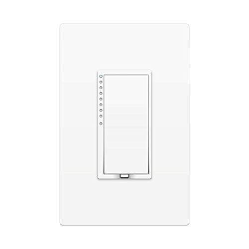 Insteon Smart Dimmer Wall Switch, 600 Watt, 2477D (White) - Insteon Hub required for voice control with Alexa & Google Assistant