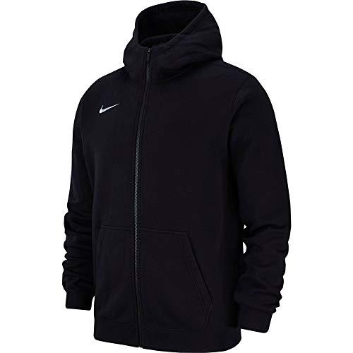 Nike Club19 Full-Zip, Felpa con Cappuccio Unisex Bambini, Black White, XS