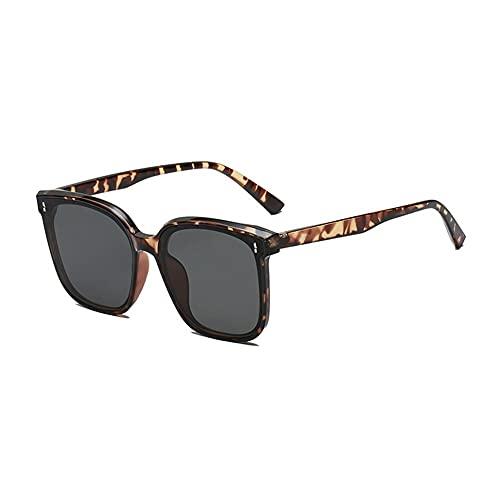 FOLA Gafas de Sol Gafas de Sol polarizadas cuadradas para Las Mujeres Retro al Aire Libre UV Gafas de Sol de Las Damas de la Moda de Las Gafas de Sol Moda Mujer (Color : Tortoiseshell Frame)
