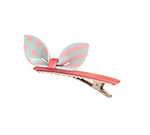 Lot de 2 Rabbit Ear Hair Pin Fashion Hair Clip/Hairpin, Bleu / Rose