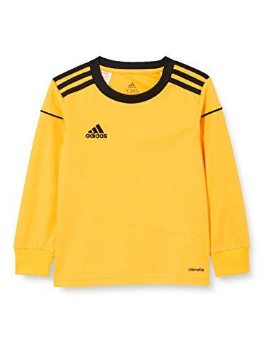 Adidas Squad 17 JSY LS Camiseta de Manga Larga, Hombre, Bold Gold/Black, 5-6Y