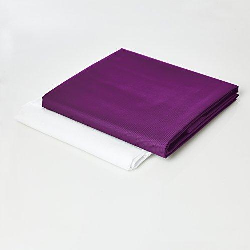 Lumaland Sitzsackhülle ohne Füllung Luxury Riesensitzsack XXL Sitzsack Bezug Hülle PVC Polyester 140 x 180 cm Lila