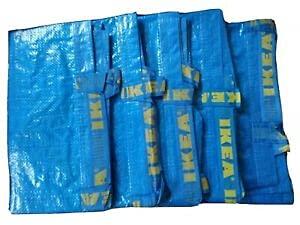 5 x IKEA FRAKTA Borsa portatutto grande blu 71 litri