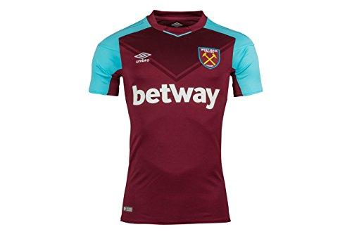 Umbro Camisa para Hombre 77512u West Ham Home 2017, Hombre, Camisa, 77512U, Rojo, S