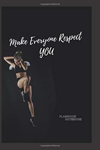 """makes everyone respect you: BookFactory Fitness Journal/Workout Journal/Exercise Journal, 120 Pages - 6"""" x 9"""""""