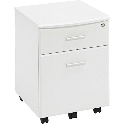 Piranha Trading Cajonera y archivador A4 con Cerradura para despacho y Oficina en casa melamina effecto Madera Blanca PC 10s