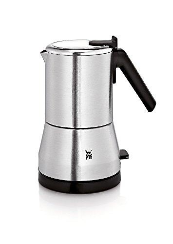WMF KÜCHENminis Espressokocher elektrisch für 2 oder 4 Tassen, platzsparend, 400 W, cromargan matt/silber