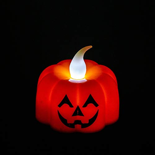 Xisheep Halloween Pumpkin Light Flickering LED Light Flameless Candle Special Party Home, Christmas Holiday Party Decoration
