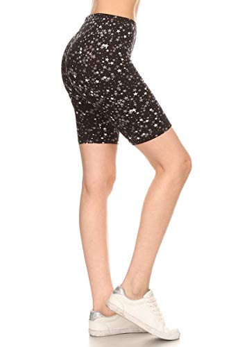 LBKX-S592-3X Starlight Printed Biker Shorts, 3X Plus