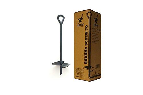 Gibbon Slacklines Ground Screw Bodenschraube Erdanker, Länge: 70 cm, Tellerbreite: 20 cm, Slacklinenen ohne Bäume