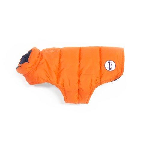 Purplebone Veste réversible pour Chien Bleu Marine/Orange Taille 14