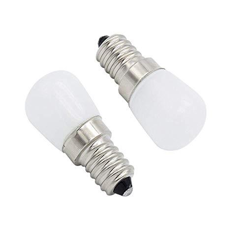 LED-lamp E14 2W 220V koelkast lamp 200Lm COB glas spot lamp koelkast afzuigkap kroonluchter niet dimbaar (2 stuks) [energieniveau A +]