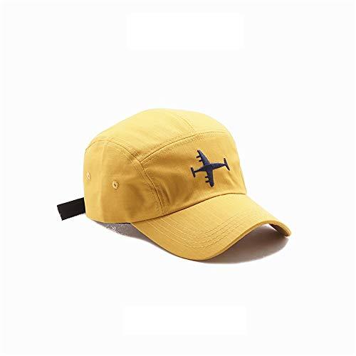 ZZYJYALG Sombreros para hombres Suave Aeronave Bordado Cómodo Piel deportivo al aire libre Sombrero Sombrero Hombres Mujeres Béisbol Gorra de algodón Tarja Liso Ajustable Papá-Sombrero Béisbol Caspa C