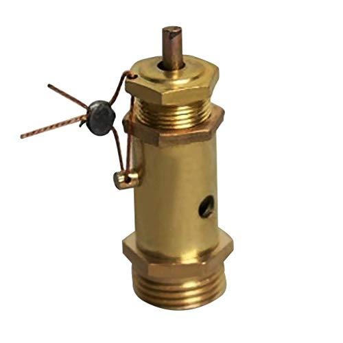 Válvula de seguridad 0.36 'Rosca de tornillo macho con llavero Compresor de aire Presión de plástico dorado metal