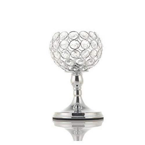 Bumpy Road Kristall Teelicht Kerzenhalter Metall Glas Kerzenhalter Hochzeit Tisch Herzstück Raumparty Weihnachtsbar Dekoration