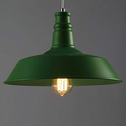 Lámpara de techo verde Shade Estilo vintage Jet Black Kitchen Lámpara de techo retro, Lámpara de techo verde