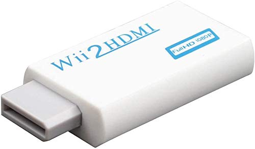 Wii a HDMI Adaptador Convertidor Wii a HDMI Conversor de Wii a HDMI HD con Salida de Video Full HDMI 720p or 1080p Audio de 3.5mm para Wii U Wii Smart HDTV Monitor Proyector