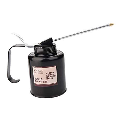 LOVIVER Lata de Aceite con Pico Alta Presión Engrasador Hierro Lubricación de Máquina - Boquilla Corta