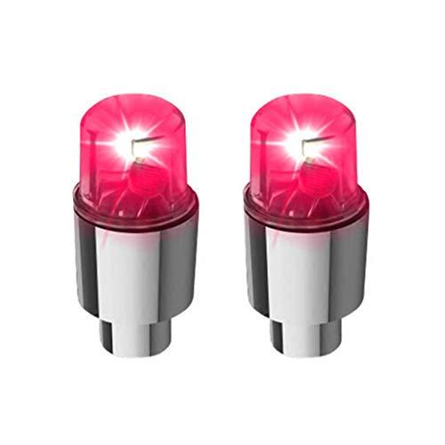 JIACUO, 1 par de válvulas LED para neumáticos de Bicicleta, Tapas de vástago, luz de neón, Accesorios para automóviles, neumático de Bicicleta, Impermeable, decoración de Linterna para Ciclismo
