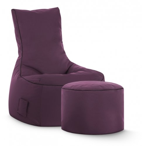 SITTING POINT only by MAGMA Sitzsack-Set Scuba Swing + Hocker aubergine