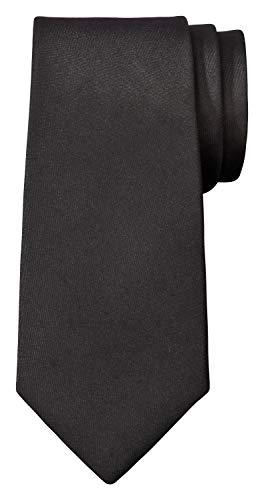 Fanucci schwarze 5 cm herren-krawatte matt Schlips schwarze weihnachten schmal seide männer frauen damen schwarz hemd modern binden