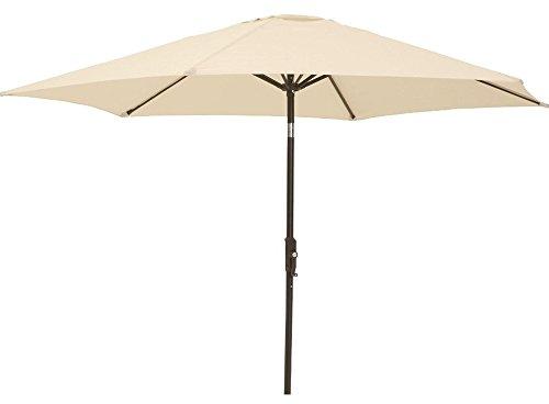 Garden Haven Cream Garden Patio Parasol Umbrella with Crank and Tilt