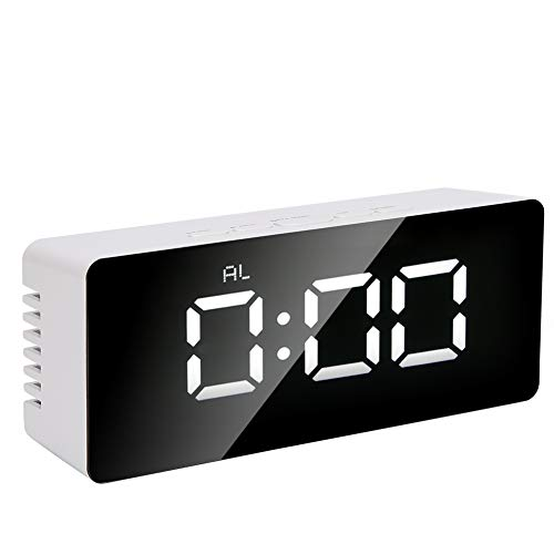 LED-spiegelwekker Wekker Digitale spiegelwekker Bureauklok voor thuiskantoor