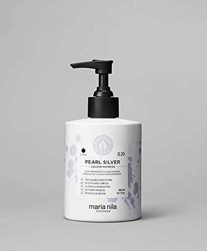 Maria Nila Colour Refresh - Pearl Silver 300ml   Eine revolutionäre Farbmaske für ein klares, kühles Farbergebnis