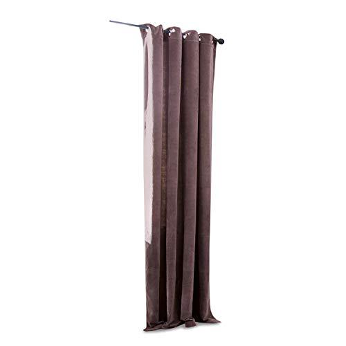 Loberon Vorhang Argy, Baumwollsamt, H/B ca. 250/140 cm, lila