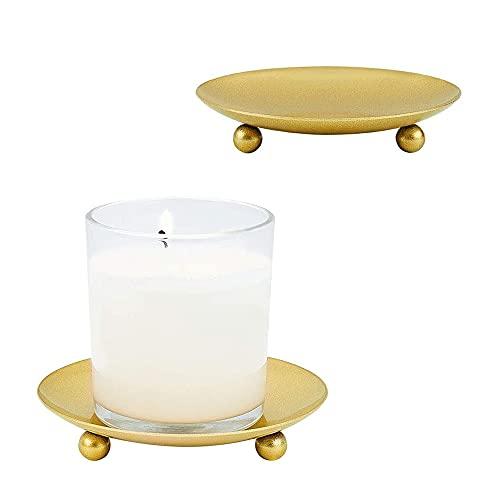 Portacandele in ferro dorato 2 pezzi di portacandele creativo semplice geometrico europeo romantico portacandele tavolo da pranzo decorazione