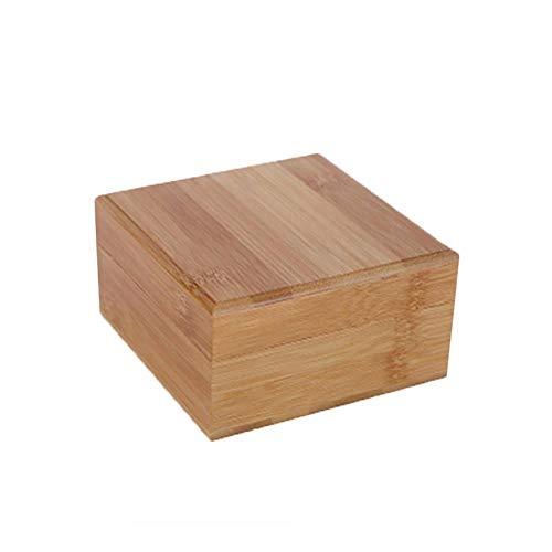 Demarkt - Caja de Madera Maciza con Tapa, diseño Cuadrado